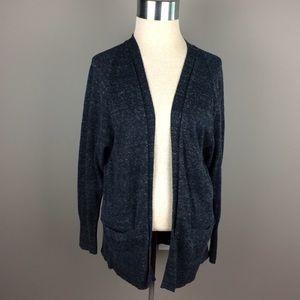 GAP heathered Navy blue open front cardigan